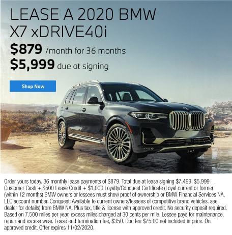 Lease a 2020 BMW X7 xDrive40i