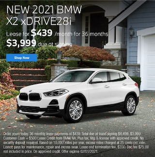 New 2021 BMW X2 xDRIVE28i Lease for $439 per month for 36 months