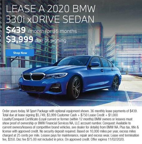 Lease a 2020 BMW 330i xDrive Sedan