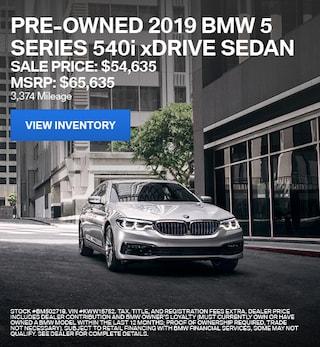 2019 BMW 5 Series 540i xDrive Sedan - Offer