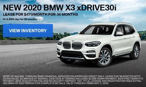 New 2020 BMW X3 xDrive30i - Jan