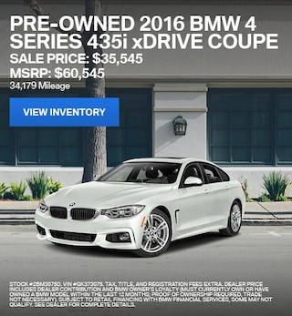 2016 BMW 4 Series 435i xDrive Coupe - Offer