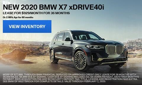 New 2020 BMW X7 xDrive40i - Jan