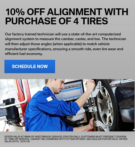 100% Off Alignment with Purchase of 4 Tires