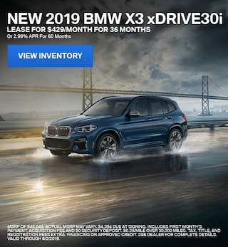 2019 BMW X3 xDrive30i - Lease