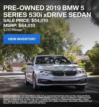 2019 BMW 5 Series 530i xDrive Sedan - Offer