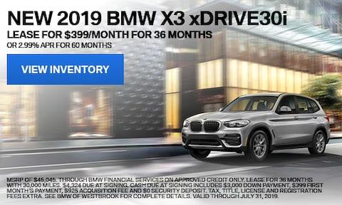 New 2019 BMW X3 xDrive30i - July '19