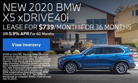 New 2020 BMW X5 - July