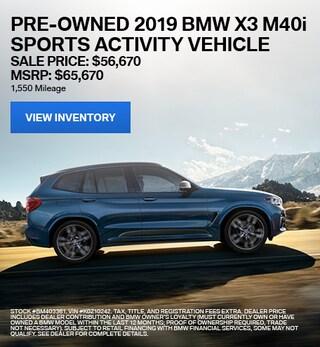 2019 BMW X3 M40i Sports Activity Vehicle - Offer