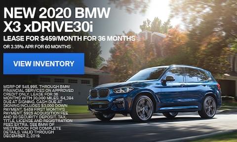 New 2020 BMW X3 xDrive30i - Nov