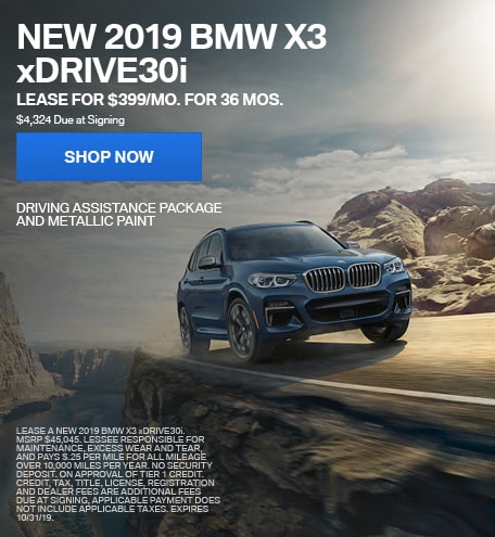 2019 BMW X3 10/4/2019