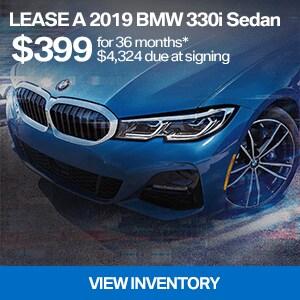 Lease a 2019 BMW 330i Sedan for $399