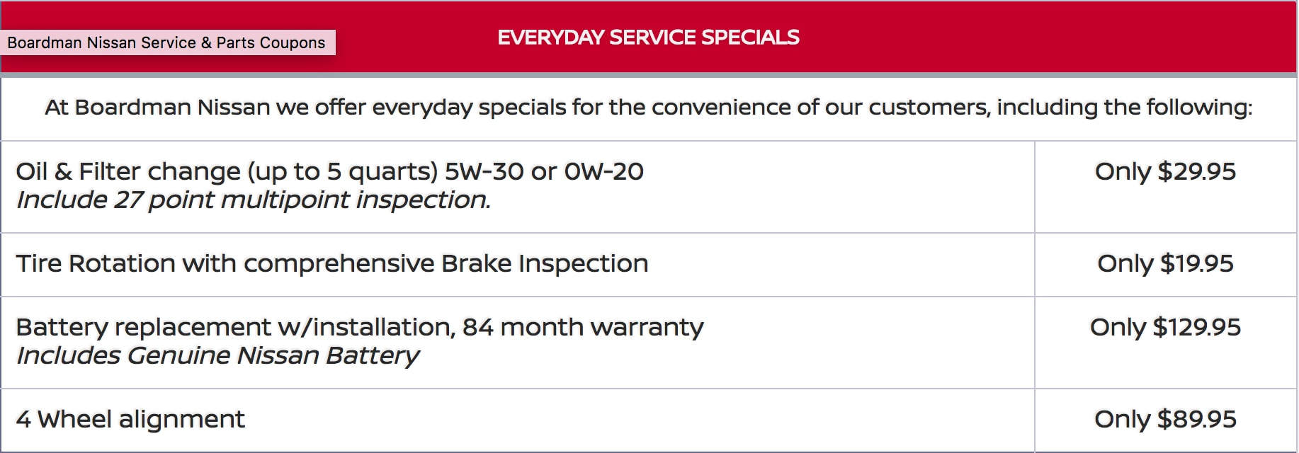 chrysler new service specials department jeep chapman automall valley coupons nissan logo