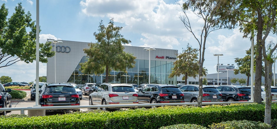 Exterior view of Audi Plano Serving Dallas