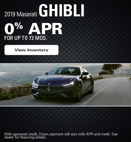 Maserati Ghibli Financing Offer