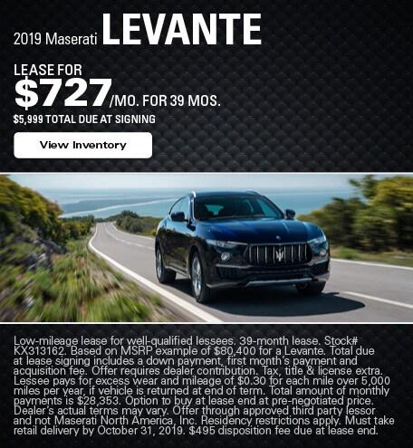 Maserati Levante Lease Offer