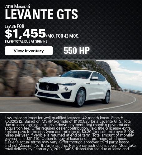 Maserati Levante GTS Lease Offer