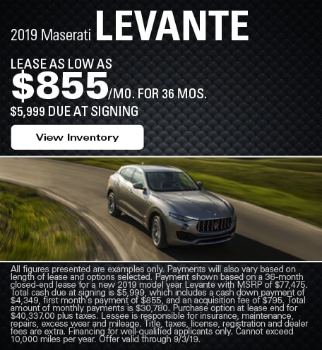 Maserati Levante Lease Offer