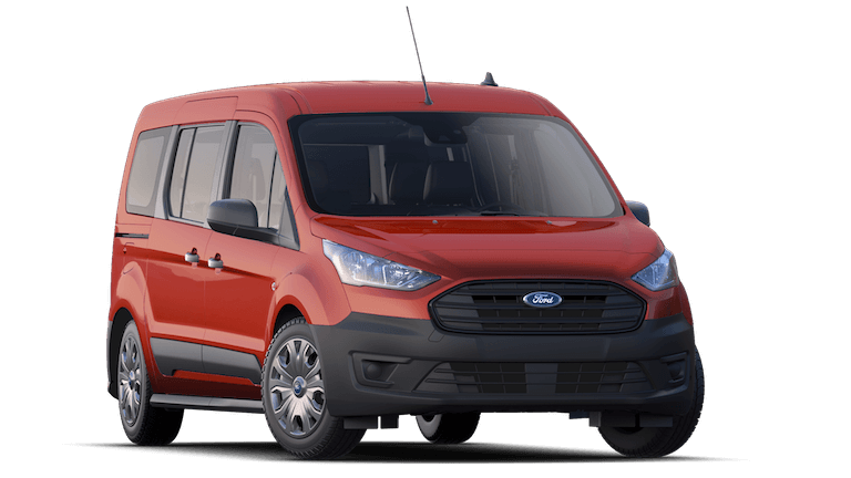A red 2020 Ford Transit Connect