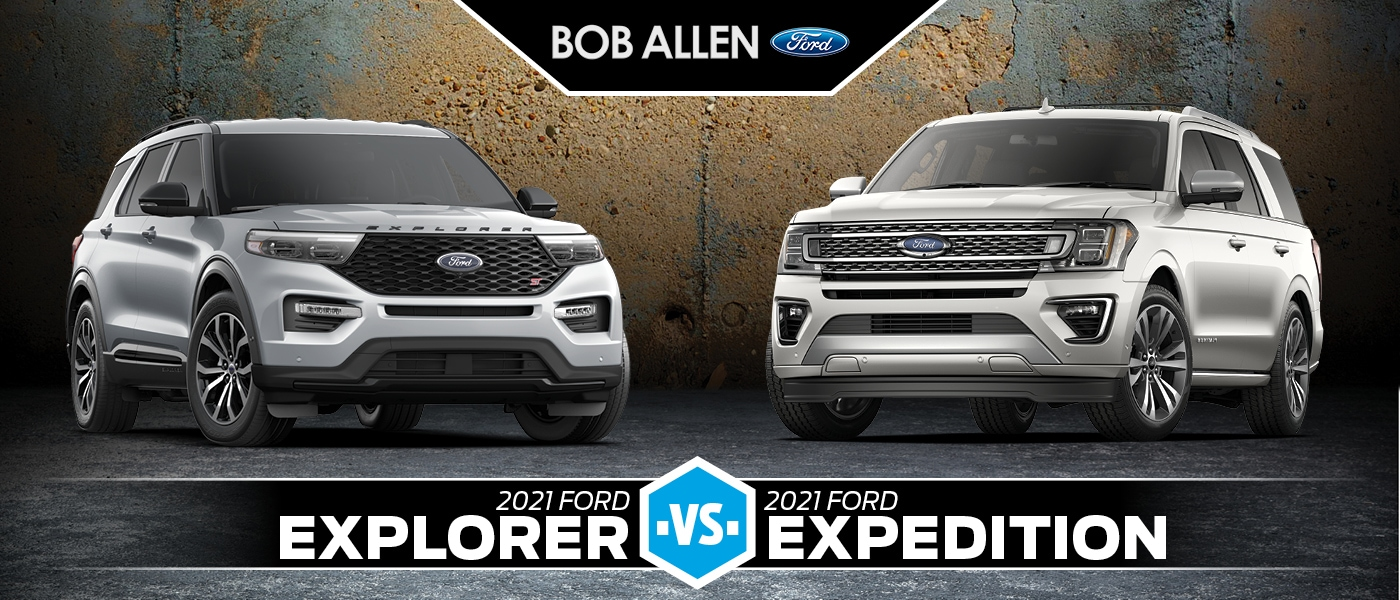 2021 Ford Explorer vs. Expedition