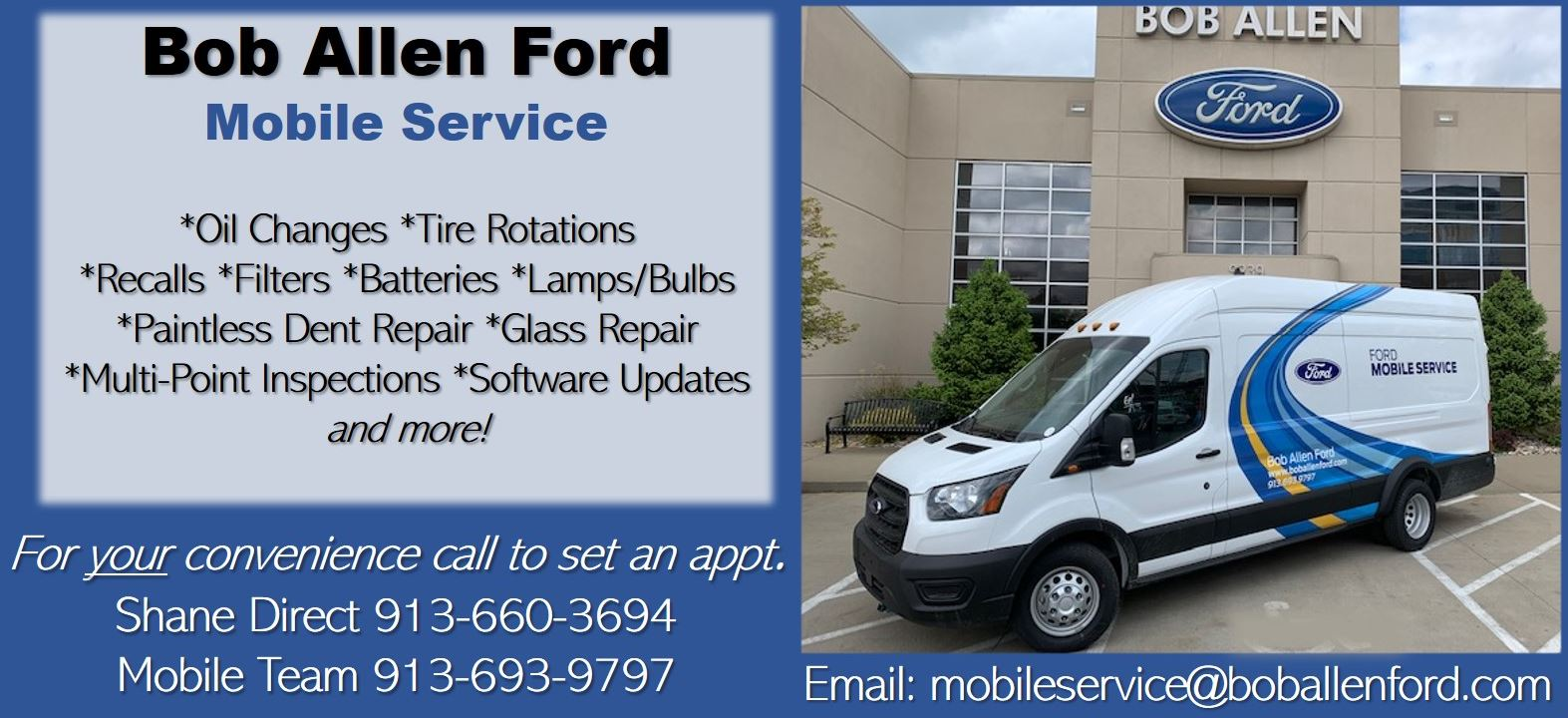 Bob Allen Ford Mobile Service Team Information