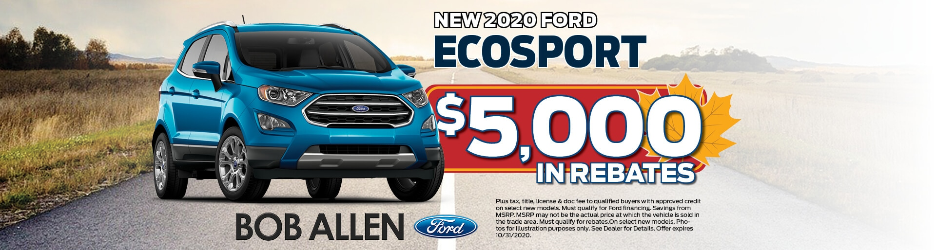 2020 Ford EcoSport | $5,000 in rebates | Overland Park, KS