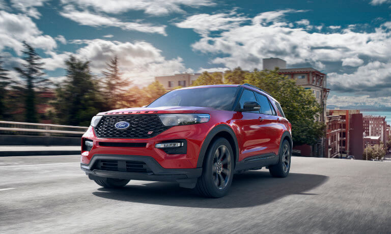 2020 Ford Explorer Driving on a rural highway