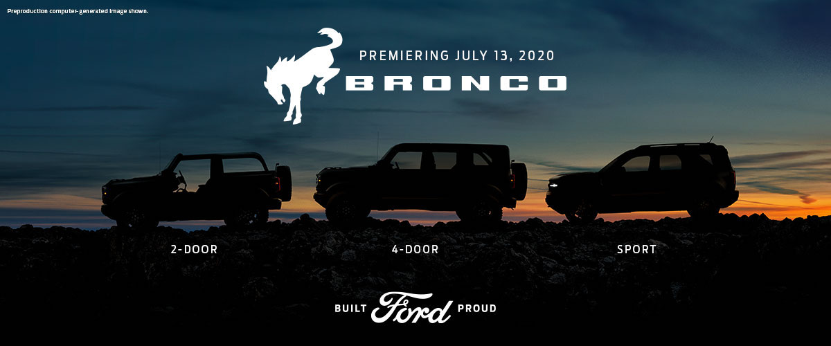 Three 2021 Ford Broncos