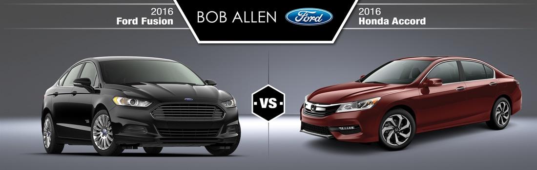 2016 Ford Fusion vs  2016 Honda Accord - Overland Park, KS