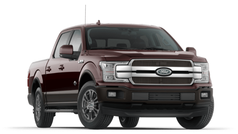 A maroon 2020 Ford King Ranch