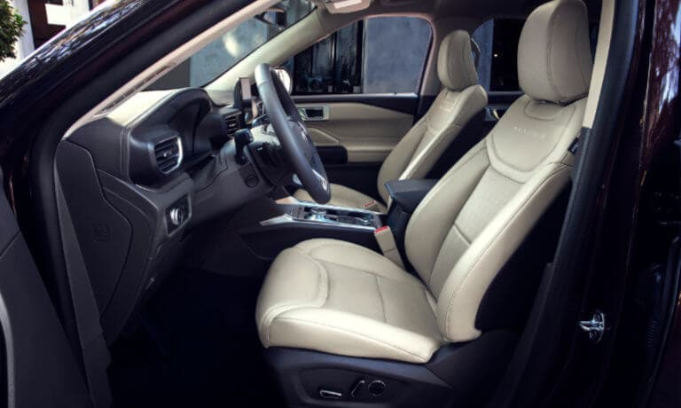 2020 Ford Explorer interior front seats