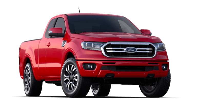 A red 2020 Ford Ranger