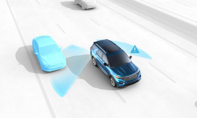 2020 Ford Explorer blind spot sensors