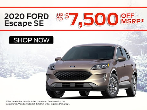 2020 Ford Escape SE Save up to $7,500 off MSRP*