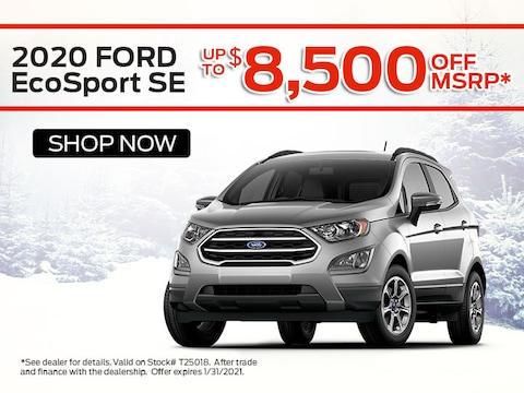 2020 Ford EcoSport SE up to $8,500 off MSRP*