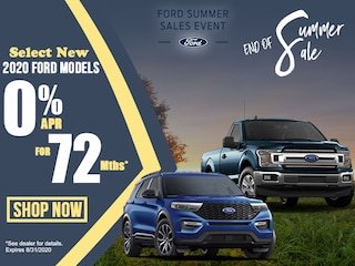 Select 2020 Ford Models: 0% APR for 72 Months!