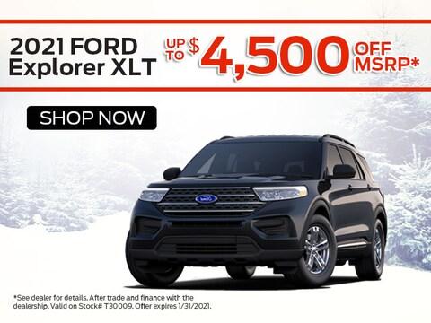 2021 Ford Explorer XLT Save Up To $4,500 Off MSRP*
