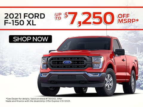 2021 Ford F-150 XL up to $7,250 off MSRP*