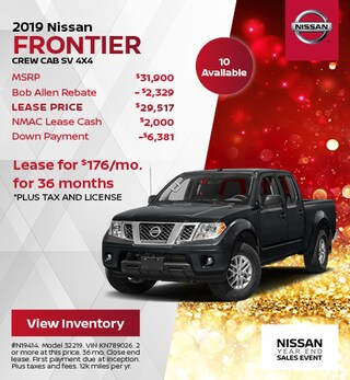 2019 Nissan Frontier Crew Cab SV 4x4
