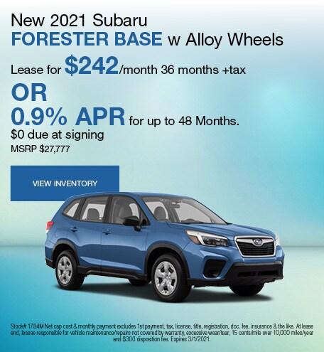 New 2021 Subaru Forester Base w Alloy Wheels