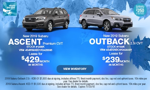 New 2019 Subaru Ascent and Outback