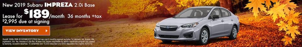 New 2019 Subaru Impreza 2.0i Base
