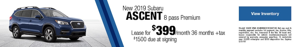 New 2019 Subaru Ascent 8 Passenger Premium