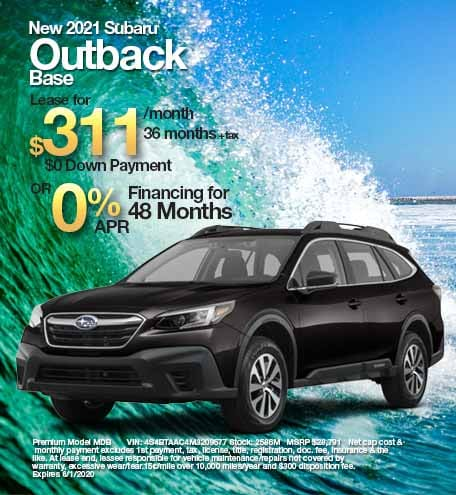 2021 Subaru Outback Base Trim Level