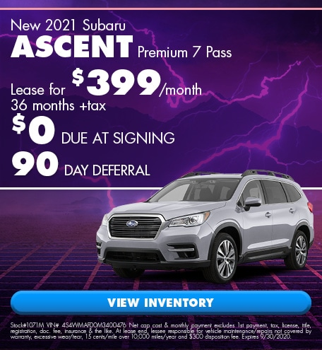 New 2021 Subaru Ascent Premium 7 Pass