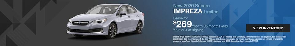 New 2020 Subaru Impreza Limited