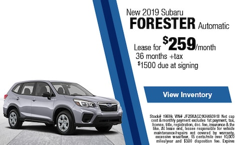 New 2019 Subaru Forester Automatic