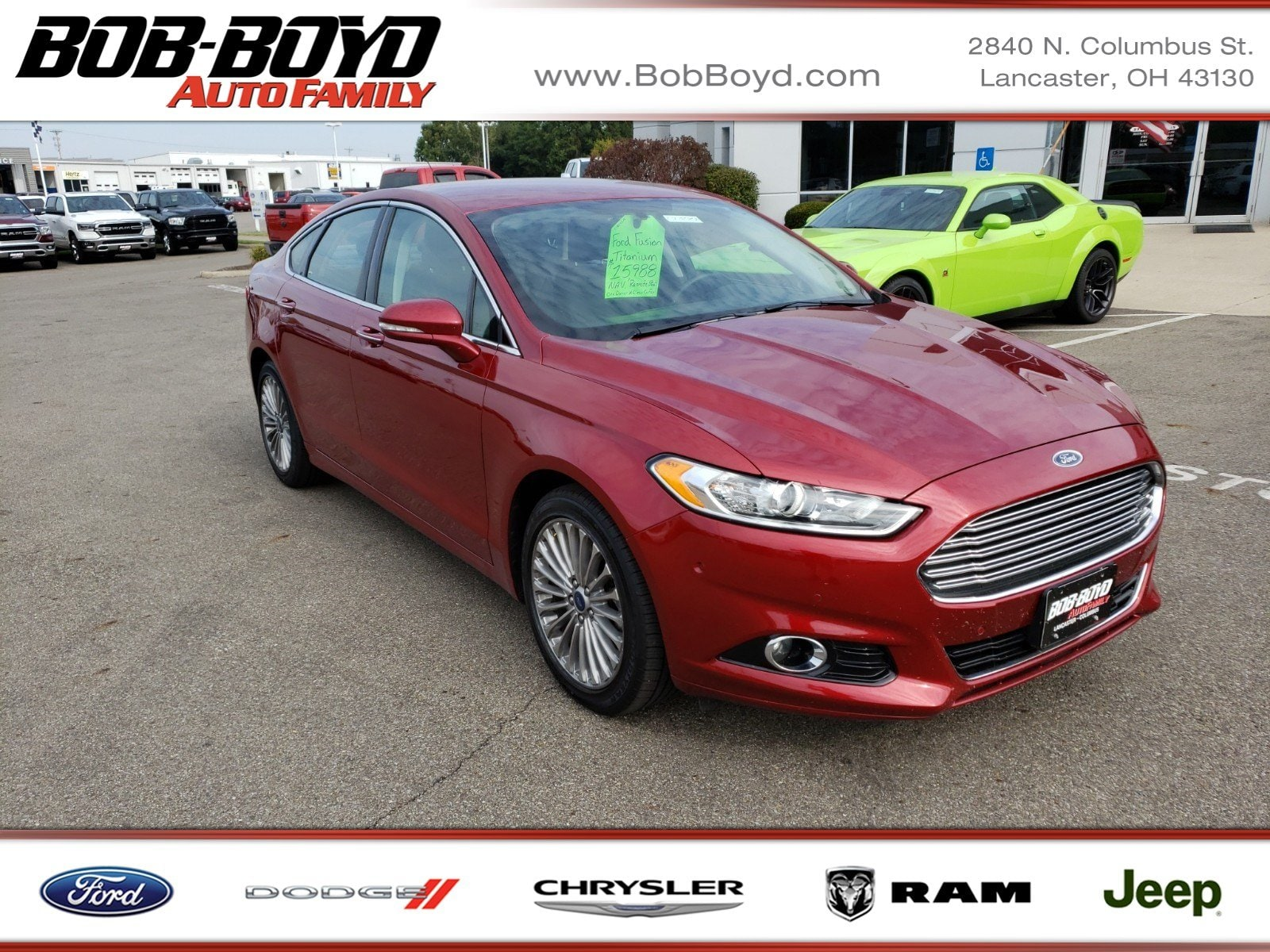 Featured Used 2015 Ford Fusion Titanium Sedan for sale in Lancaster, OH
