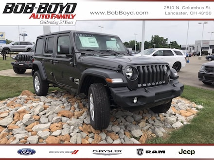 Featured New 2020 Jeep Wrangler UNLIMITED SPORT S 4X4 Sport Utility 1C4HJXDM2LW320878 for sale in Lancaster, OH