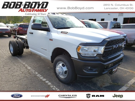 Featured New 2019 Ram 3500 Chassis Cab 3500 TRADESMAN CHASSIS REGULAR CAB 4X4 143.5 WB Regular Cab 3C7WRTAJ8KG553182 for sale in Lancaster, OH